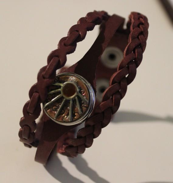 NOOSA Armband WARRIOR EMPOWERMENT weinrot Gr. S