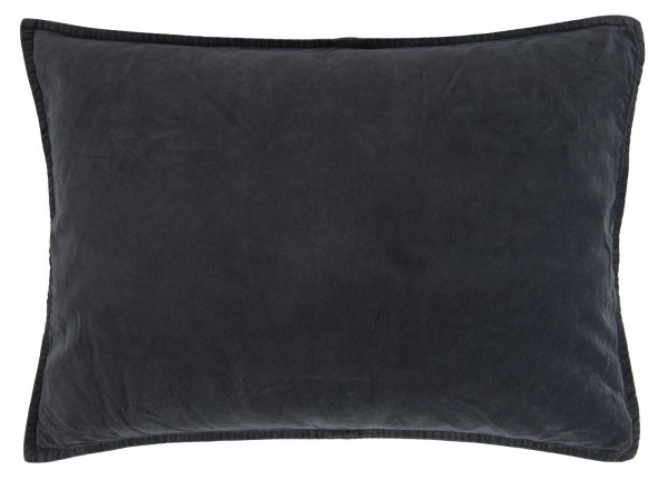 Kissenbezug aus Velour, mitternachtsblau, Ib Laursen ApS