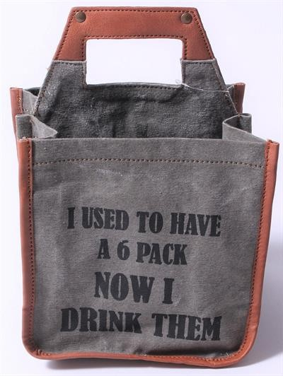 "Biertasche beer bag ""I used to have a 6 pack - now I drink them"" La Finesse"