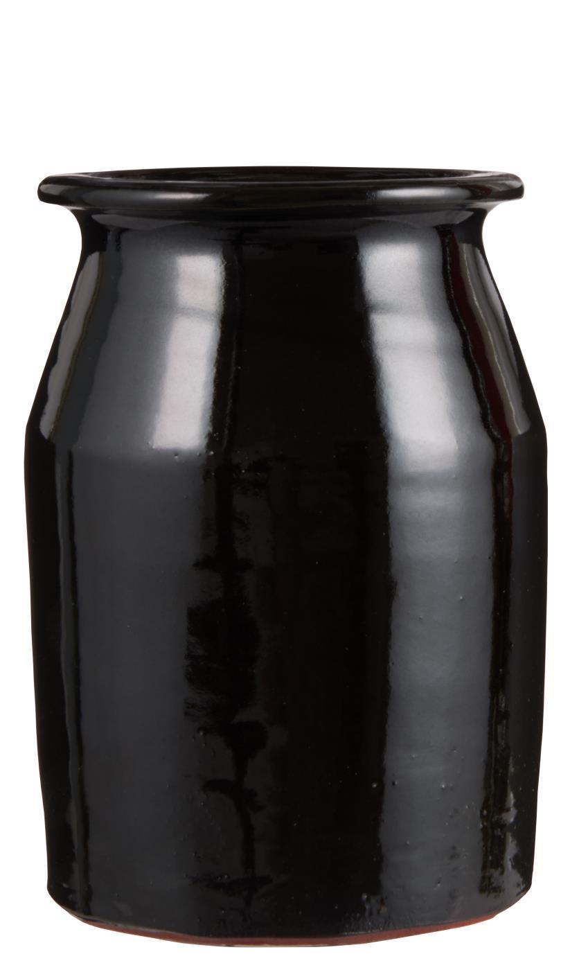 Vase Topf Campagnard schwarz Ib Laursen