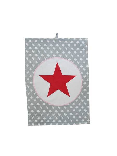 Geschirrhandtuch Grey big star