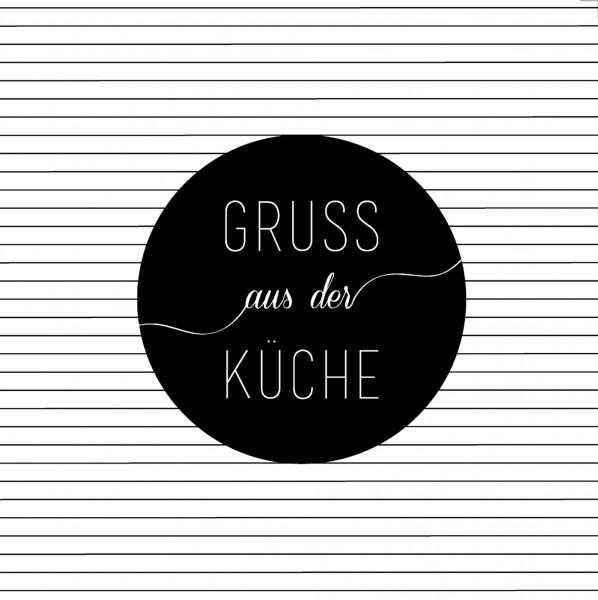"""Servietten """"Gruß aus der Küche"""", 33 cm, räder"""