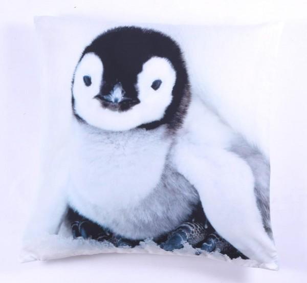 """Kissen mit Inlet """"Pinguin"""""""