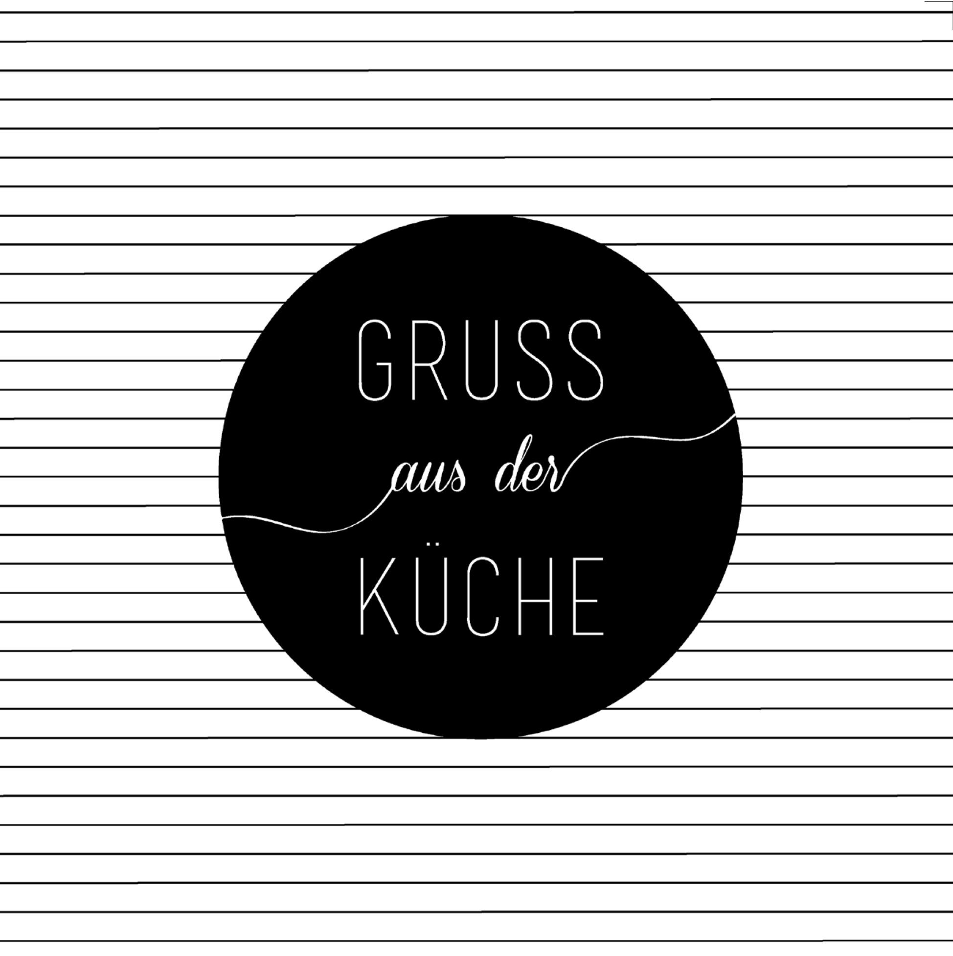 Partybedarfpartydeko - Servietten Gruß aus der Küche 33 cm räder - Onlineshop Tante Emmer