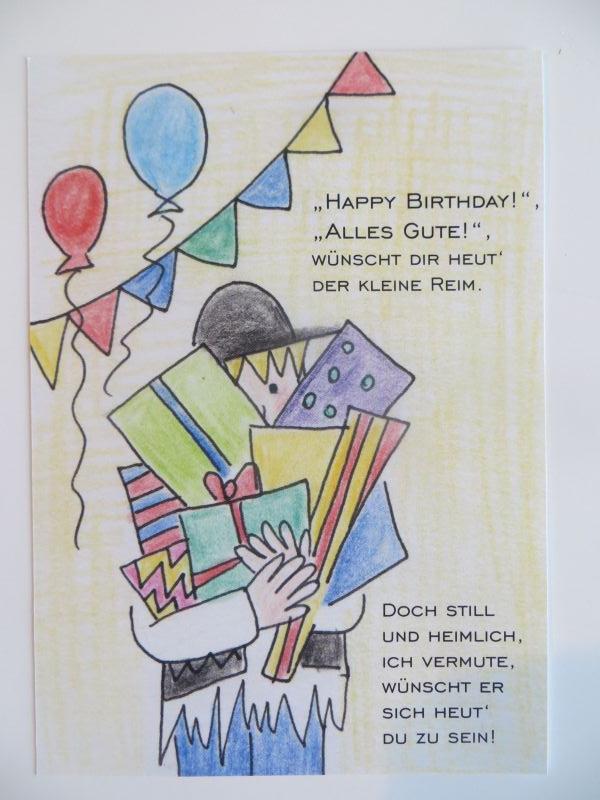 - Der kleine Reim Postkarte Zum Geburtstag - Onlineshop Tante Emmer