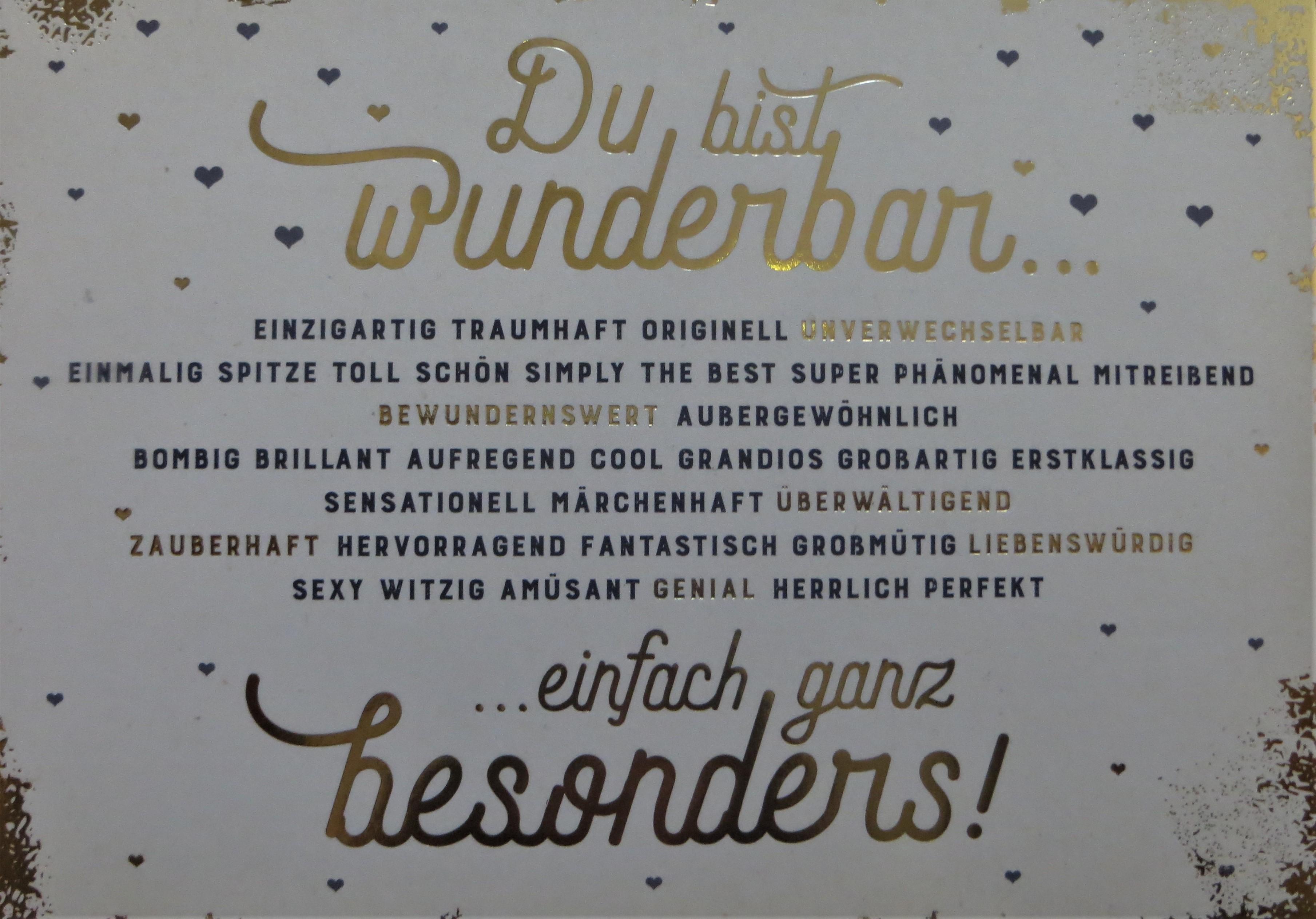 Postkarte Du bist wunderbar... VintageArt