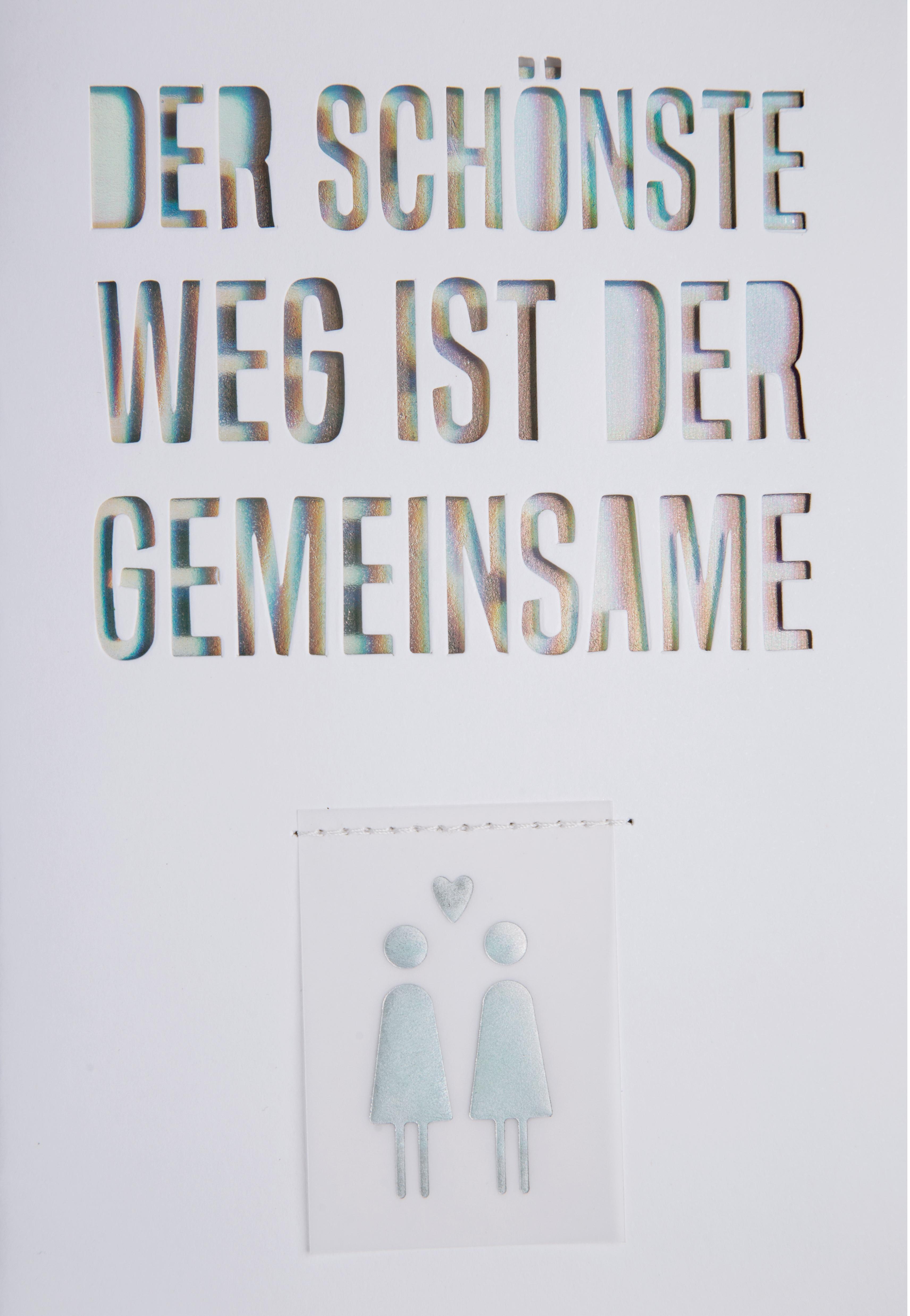 - Glückwunschkarte Hochzeitskarte Regenbogen Der schönste Weg ist der Gemeinsame räder - Onlineshop Tante Emmer
