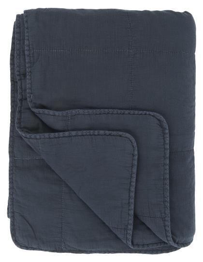 Quilt/ Decke mittnernachtsblau Ib Laursen ApS