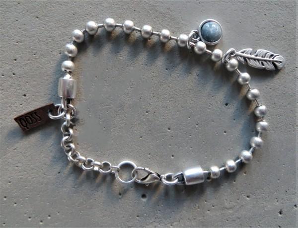 QOSS Armband LUNA silber-eisblau, onesize