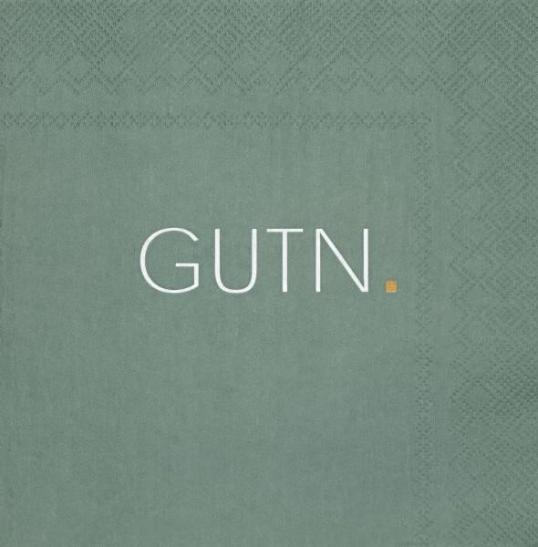 """Servietten """"GUTN"""" Grün, 33cm, räder"""