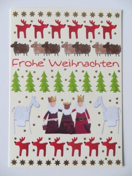"""Postkarte Weihnachtskarte """"Frohe Weihnachten"""" Kultura"""