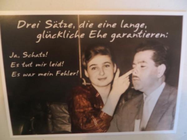 """Postkarte Karte """"Drei Sätze, die eine lange, glückliche Ehe garantieren:..."""" Paloma"""