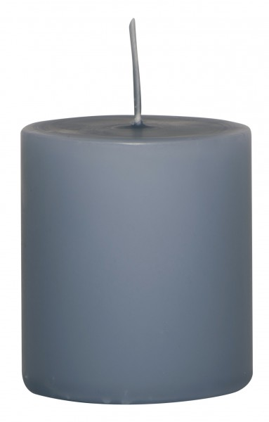 Stumpenkerze taubenblau Ib Laursen 6x7cm
