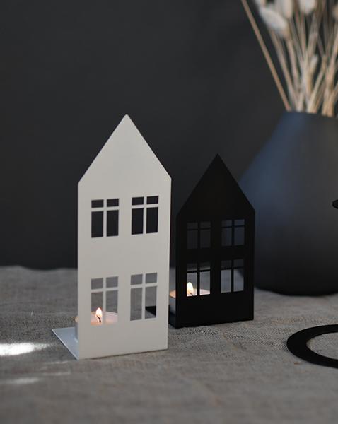 Nützlichdekoration - STORGATAN Kerzenleuchter Teelichthalter Metall Weiß 18cm Storefactory - Onlineshop Tante Emmer