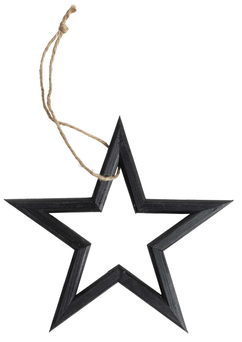 Nützlichdekoration - Aufhänger Holzstern schwarz 25cm - Onlineshop Tante Emmer