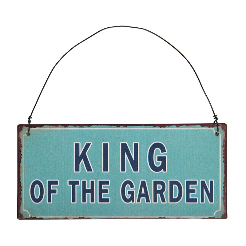 Witzigschilder - Schild KING OF THE GARDEN Ib Laursen ApS - Onlineshop Tante Emmer