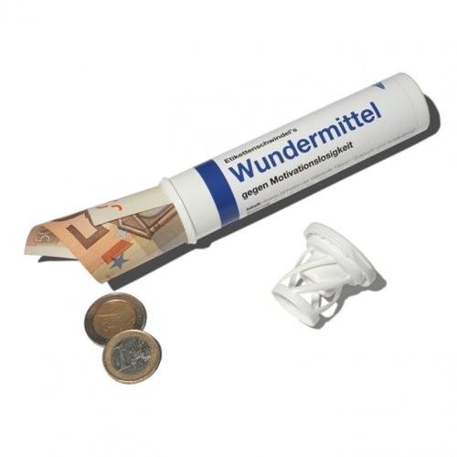 """Geld- und Geschenkröhrchen """"Wundermittel"""""""