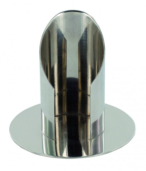 Kerzenständer / Metallleuchter vernickelt für 40 mm Kerzen