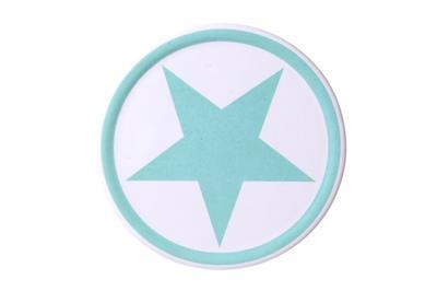 Steinuntersetzer blauer Stern aus Keramik La Finesse