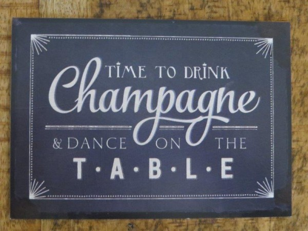 """Postkarte """"TIME TO DRINK Champagne & DANCE ON THE TABLE"""""""