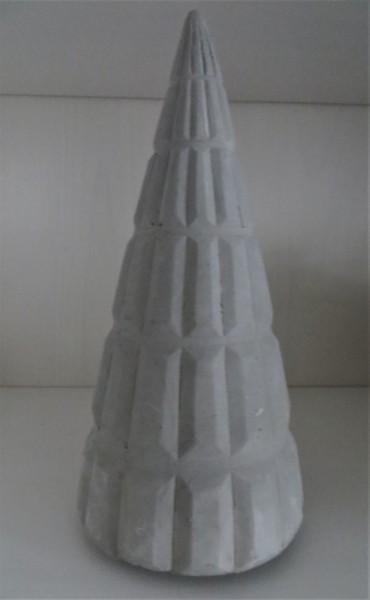 Tannenbaum Beton gerillt, 18cm