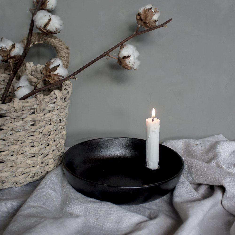 Nützlichdekoration - LIDATORP Kerzenhalter glänzend Schwarz glänzend L 21 cm Storefactory - Onlineshop Tante Emmer