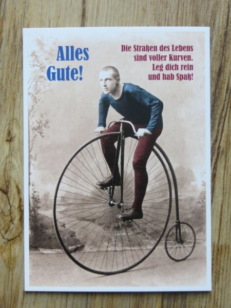 "Postkarte Karte ""Alles Gute! Die Straßen des Lebens sind voller Kurven... "" Paloma"