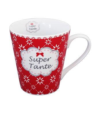 Mug Kaffeebecher Super Tante mit Henkel