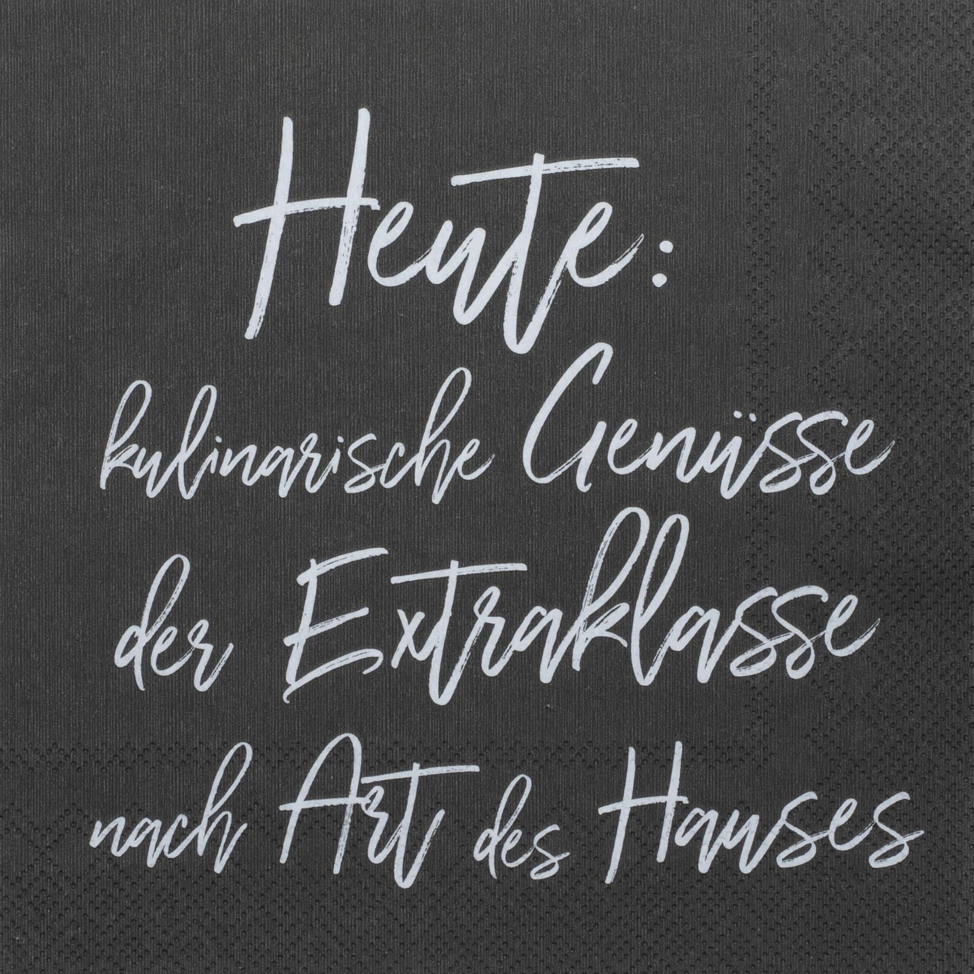 Partybedarfpartydeko - Servietten DINING Heute kilinarische Genüsse der Exraklasse... 33cm räder - Onlineshop Tante Emmer