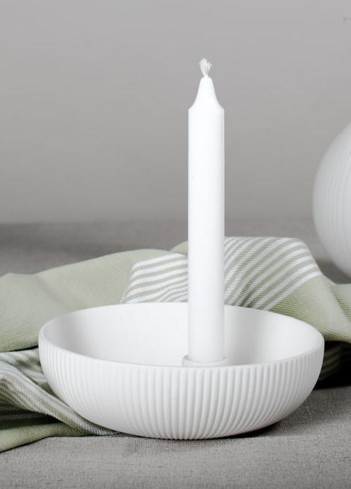 Nützlichdekoration - Limited Edition LIDATORP Kerzenhalter S Weiß 16 cm Storefactory - Onlineshop Tante Emmer