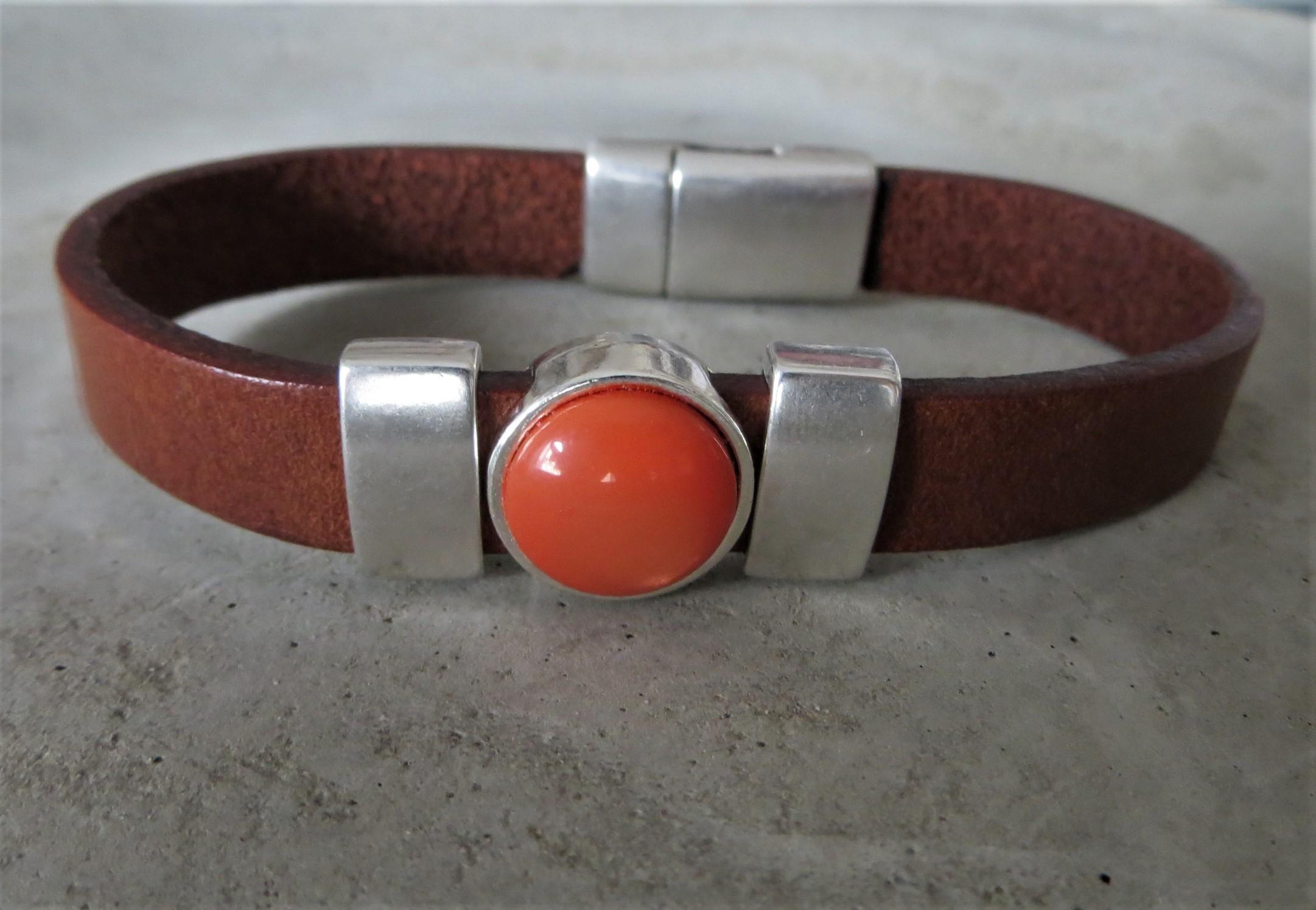 Armbaender - QOSS Armband KIM Braun Orange L  - Onlineshop Tante Emmer