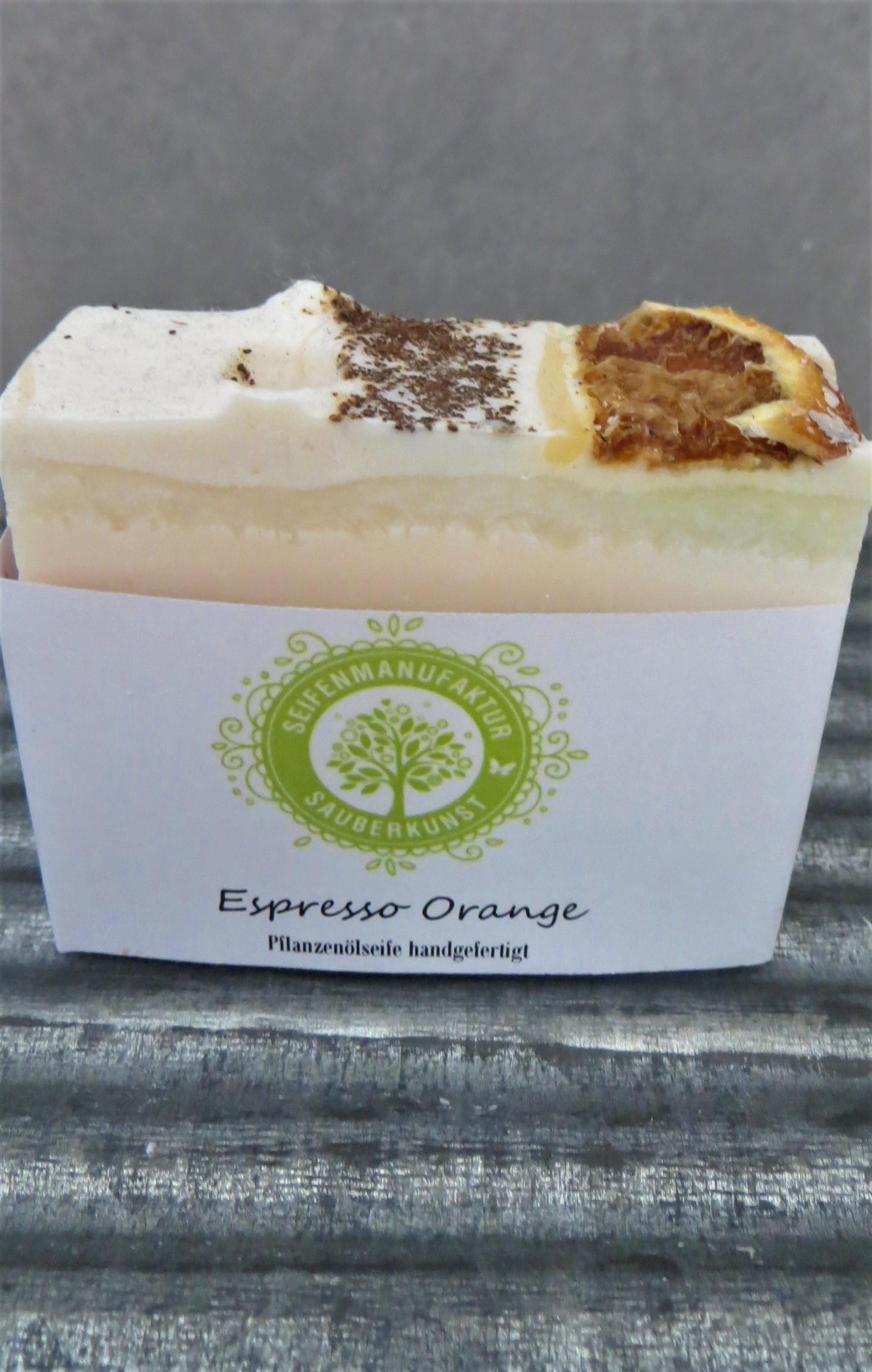 Nützlichwellness - Pflanzenölseife Espresso Orange 100 g SauberKunst - Onlineshop Tante Emmer