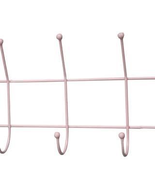 Garderobe Aufhänger mit 5 Haken in pink von Krasilnikoff