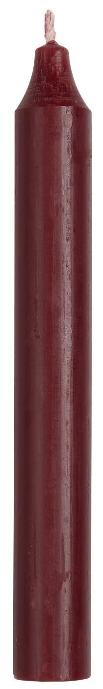 Partybedarfpartydeko - Kerze Stabkerze rustikal Bordeaux 18cm Ib Laursen ApS - Onlineshop Tante Emmer