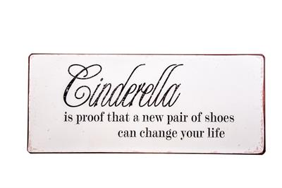 Metall Schild Cinderella is proof...