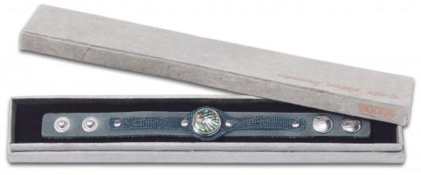 NOOSA Armband mit Chunk Geschenkbox KOLEDA forestgreen S