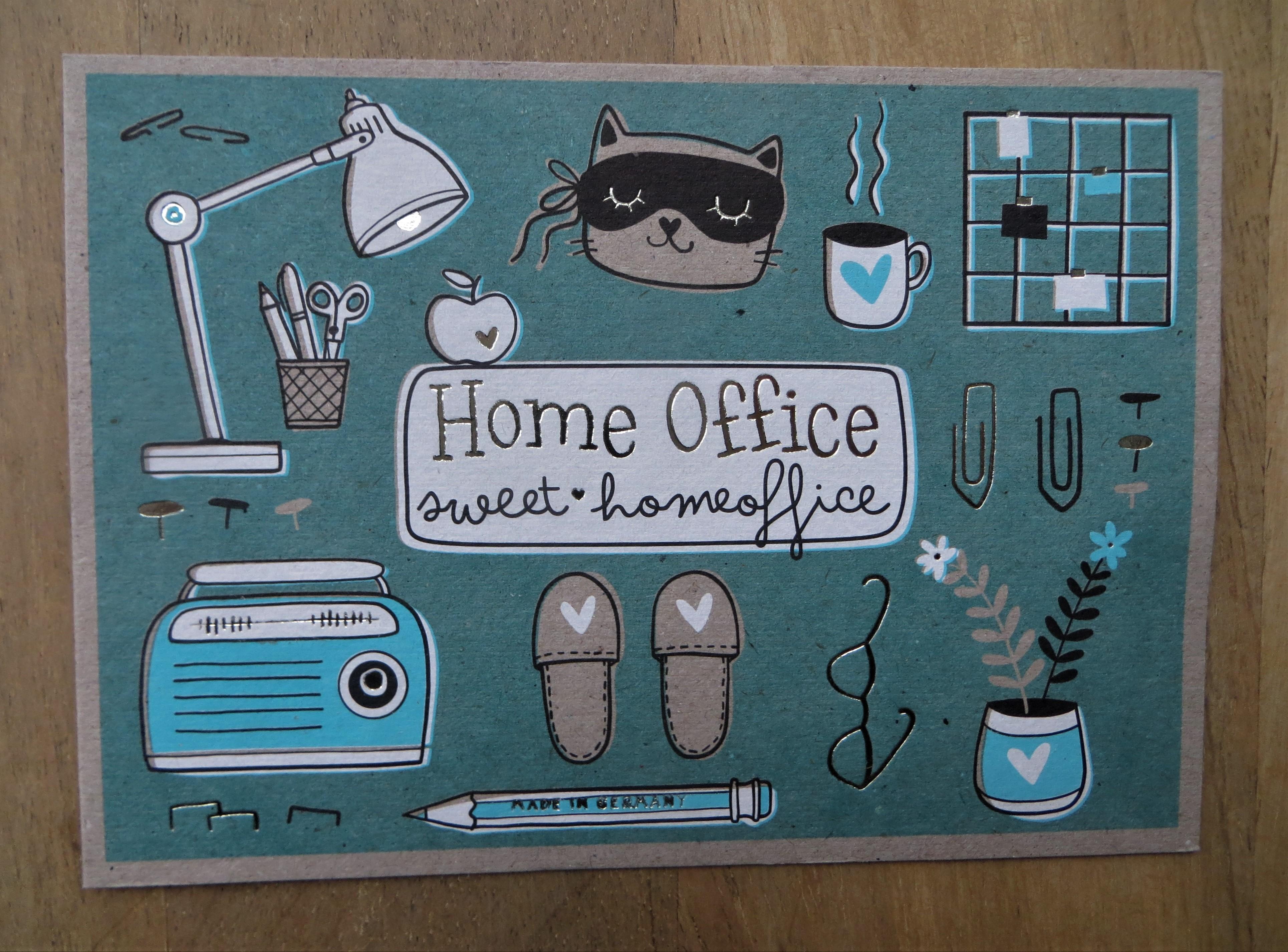 Nützlichgrusskarten - Postkarte Homeoffice sweet homeoffice KUNST und BILD - Onlineshop Tante Emmer