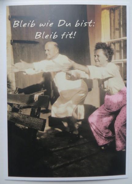 "Postkarte Karte ""Bleib wie du bist: Bleib fit!"" Paloma"