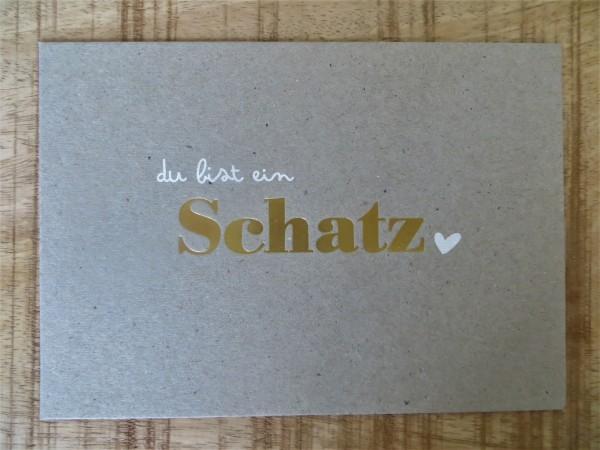 """Postkarte """"du bist ein Schatz"""" KUNST und BILD"""