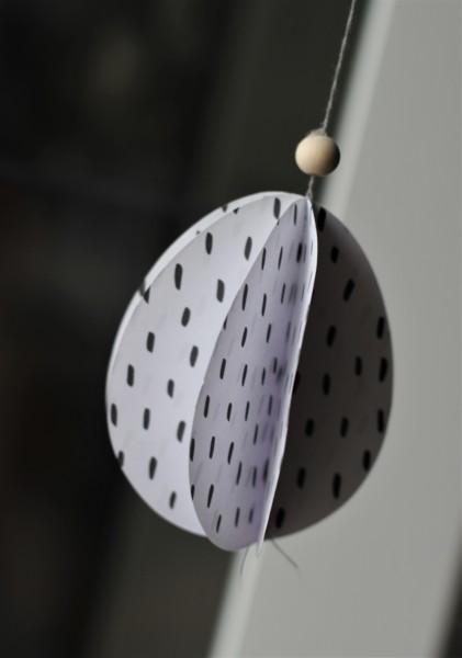 Papier-Eier in Schwarz-Weiß, 3er-Set