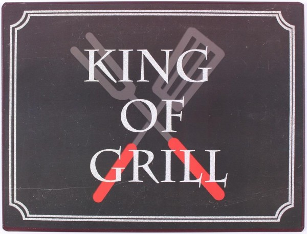 "Metall Schild ""King of grill"""