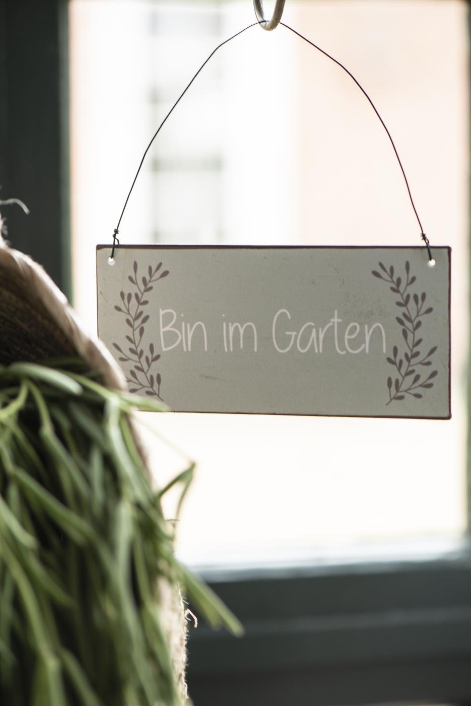 Witzigschilder - Metall Schild Bin im Garten IB Laursen - Onlineshop Tante Emmer