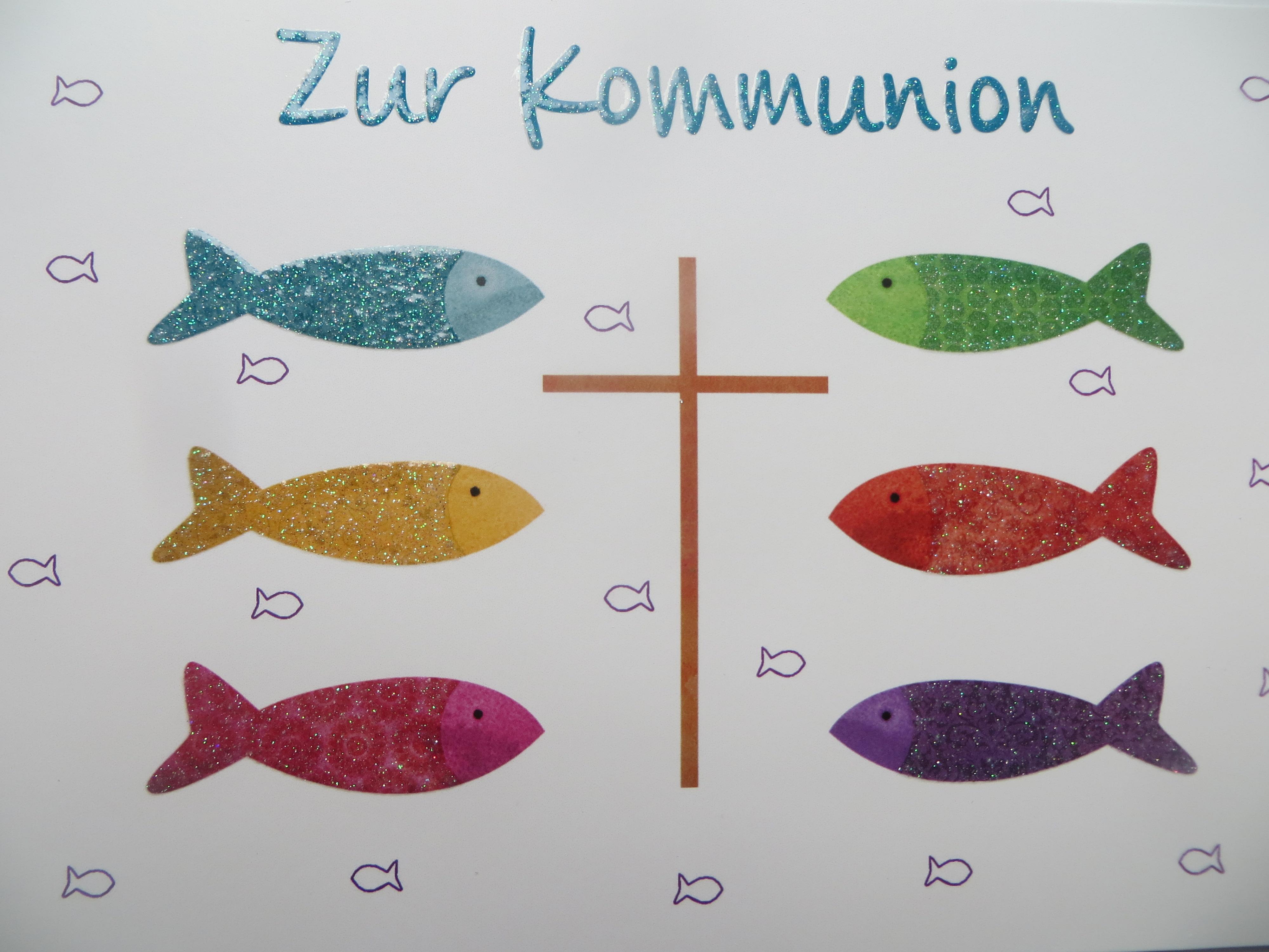 Nützlichgrusskarten - Klappkarte Zur Kommunion - Onlineshop Tante Emmer