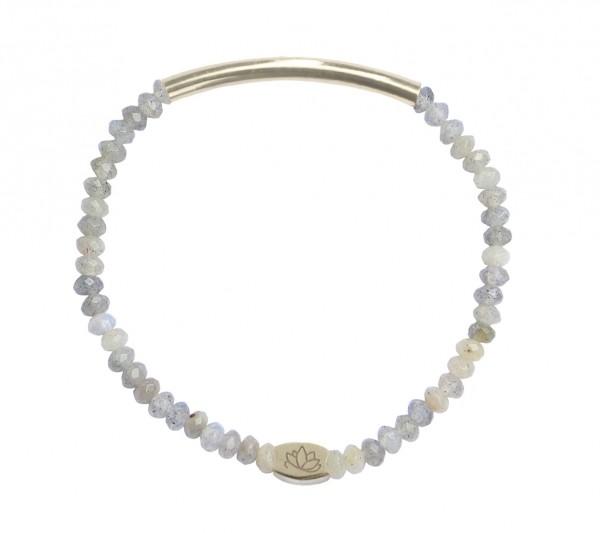 MAS jewelz Armband Labradorit/ Silber