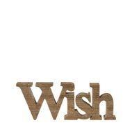 """Schriftzug """"Wish"""" aus Holz, natur Riverdale"""