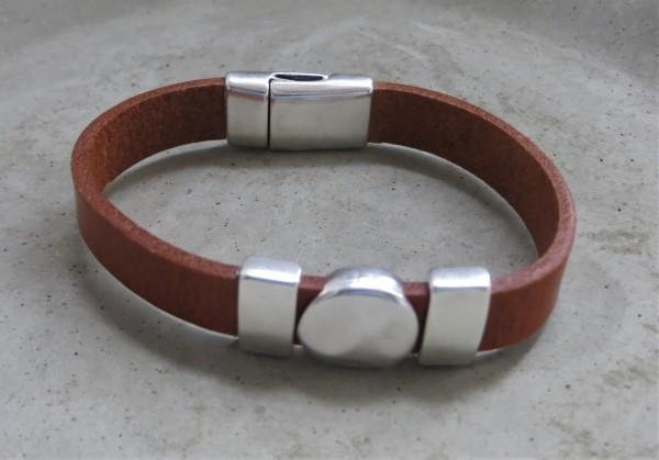 QOSS Armband KIM Natural-Silber, M