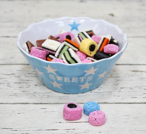 Nützlichküchenaccessoires - Sweets baby blau Schale Schüssel mit Sternen Krasilnikoff - Onlineshop Tante Emmer
