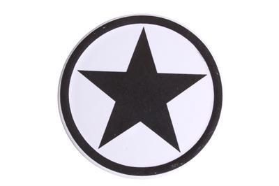 Steinuntersetzer schwarzer Stern aus Keramik La Finesse