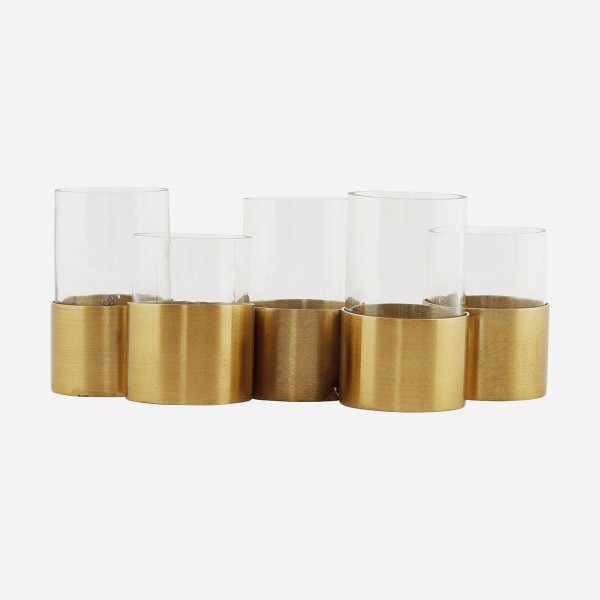 """T5"" Vase / Kerzenständer mit Metallfuß House Doctor"