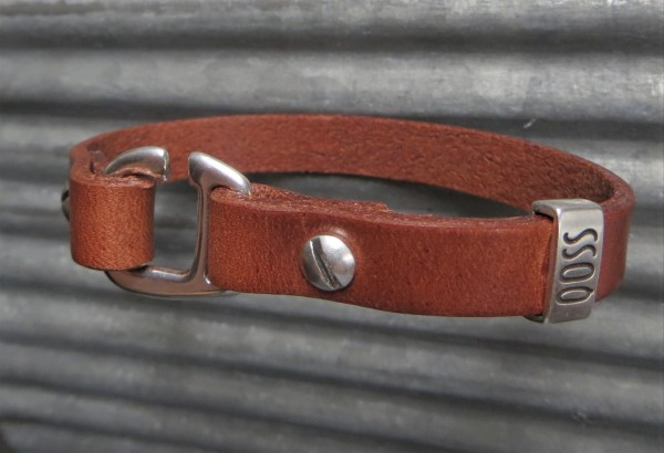 QOSS Armband SAM Braun für IHN, L